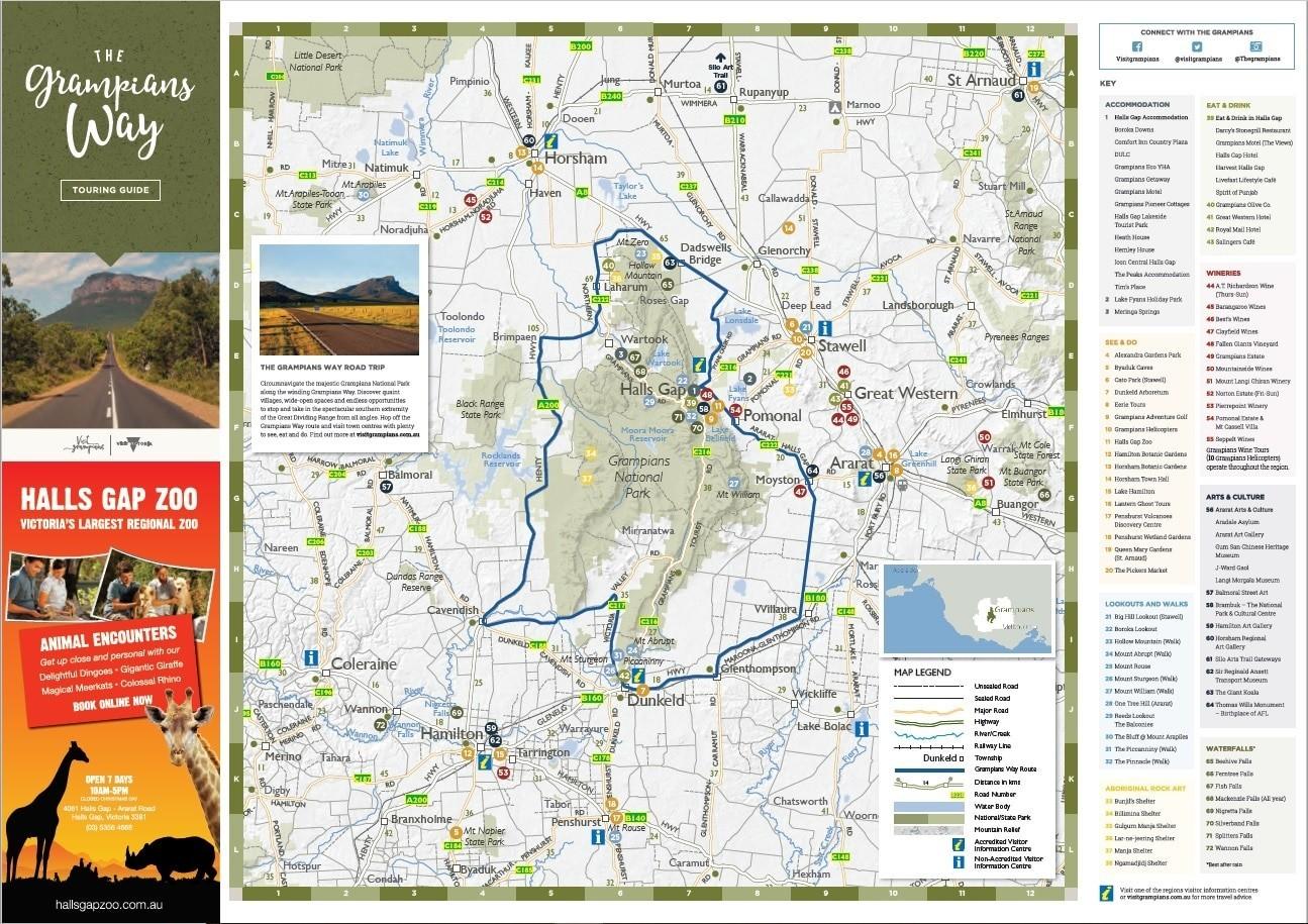 The Grampians Way map