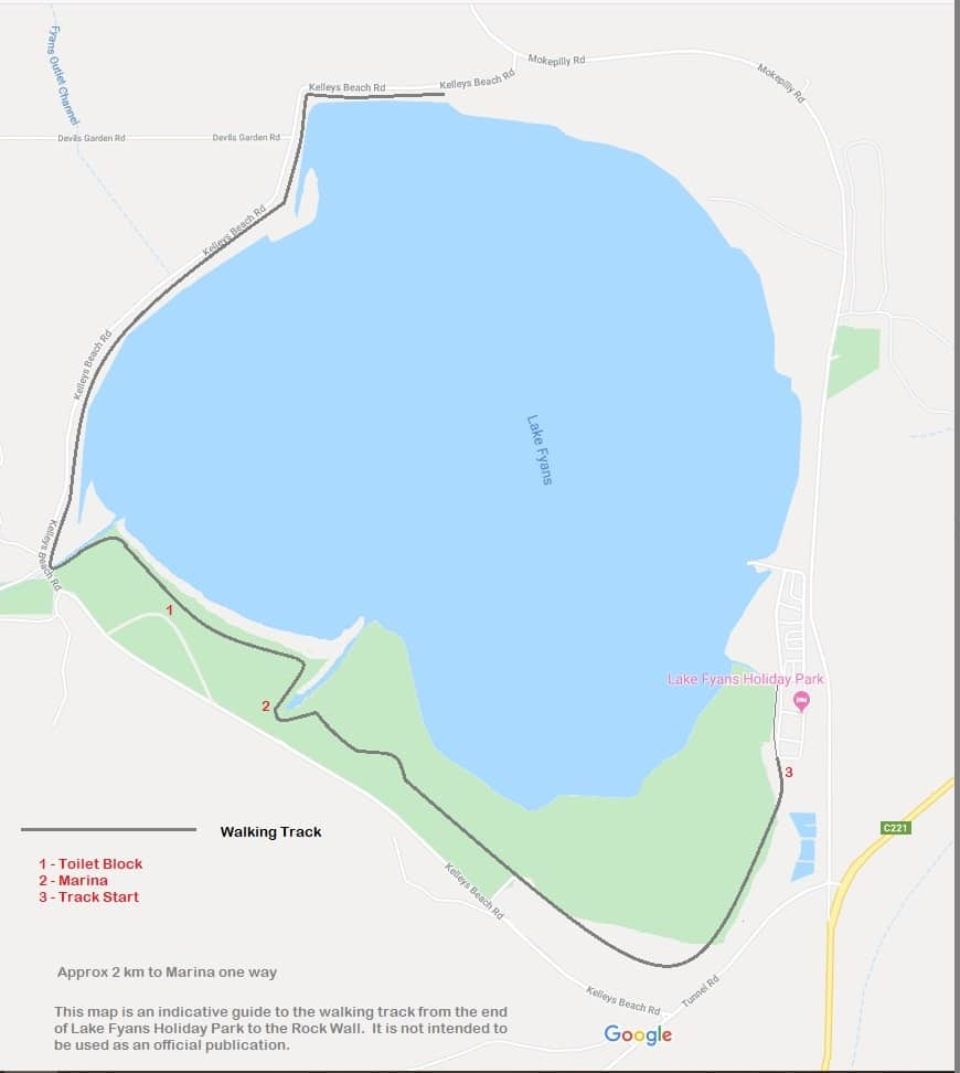 Lake Fyans Walking Track Map