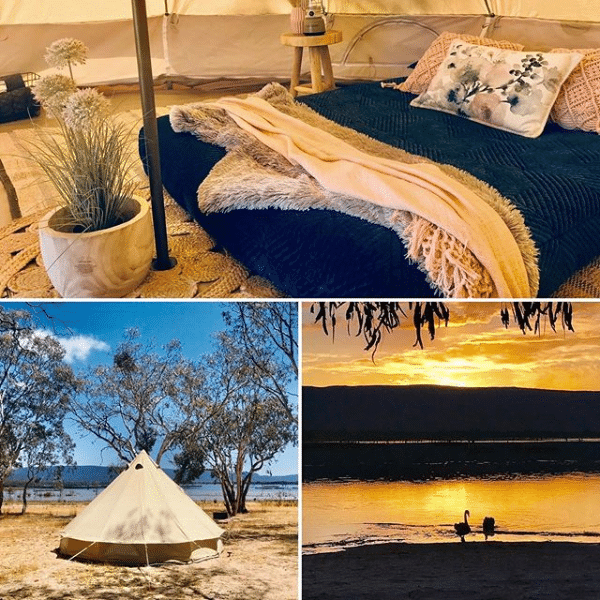 Glamping at Lake Fyans Holiday Park